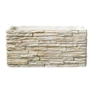 Latina Stonewall Ceramic Trough Stone Beige (28 x 14 cm)