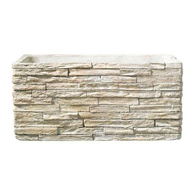Latina Stonewall Ceramic Trough Stone Beige (28 x 14 cm)