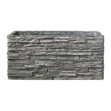 Latina Stonewall Ceramic Trough Stone Gray (28 x 14cm)