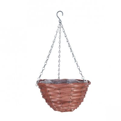 Willow Core Hanging Basket Nut Brown (10inch)