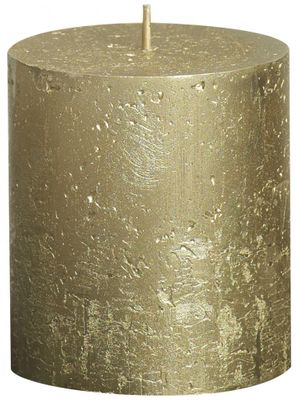 Gold Bolsius Rustic Metallic Candle (80mmx68mm) (BT 30 hours)