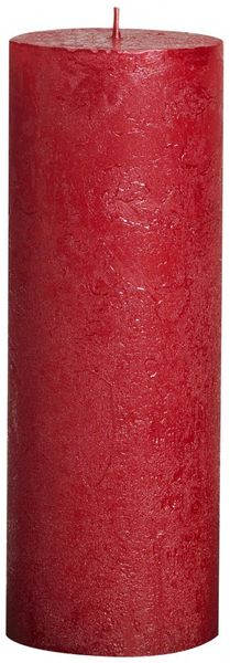 Red Bolsius Rustic Metallic Candle (190mmx68mm) (BT 65 hours)