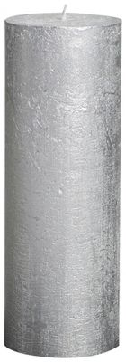 Silver Bolsius Rustic Metallic Candle (190mmx68mm) (BT 65 hours)