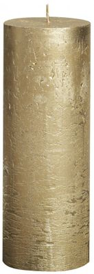 Gold Bolsius Rustic Metallic Candle (190mmx68mm) (BT 65 hours)