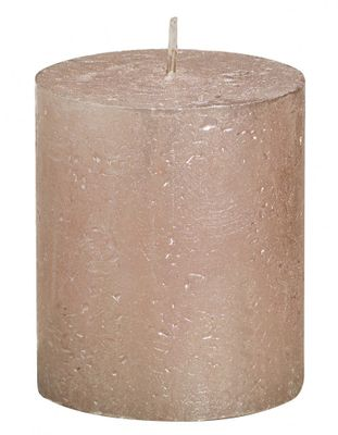 Rose Gold Bolsius Rustic Metallic Candle (80mmx68mm) (BT 30 hours)