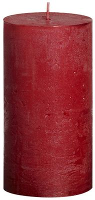 Red Bolsius Rustic Metallic Candle (130mmx68mm) (BT 48 hours)