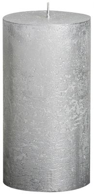 Silver Bolsius Rustic Metallic Candle (130mmx68mm) (BT 48 hours)