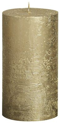 Gold Bolsius Rustic Metallic Candle (130mmx68mm) (BT 48 hours)