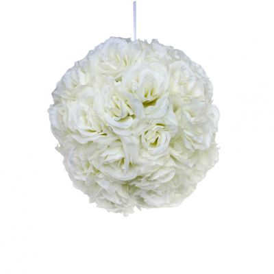 Cream Rose Ball (28cm)
