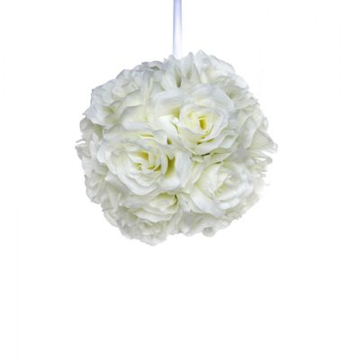 Cream Rose Ball (20cm)