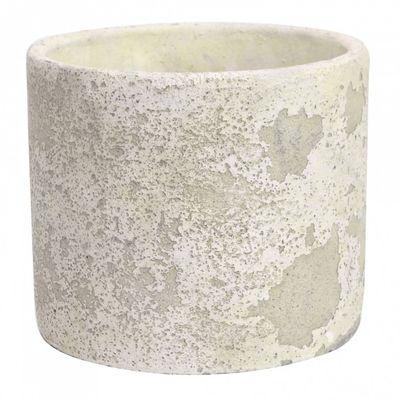 Rustic Round Cement Flower Pot 20cm