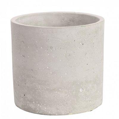 Round Cement Flower Pot 17cm