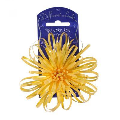 Yellow Firework Bow (10cm)