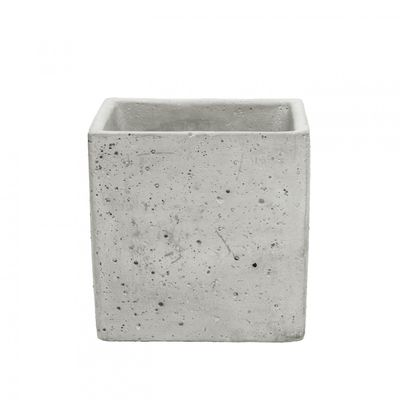 Square Cement Flower Pot (12cm)