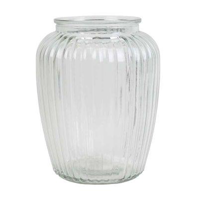 Ribbed Vase (H20cm)