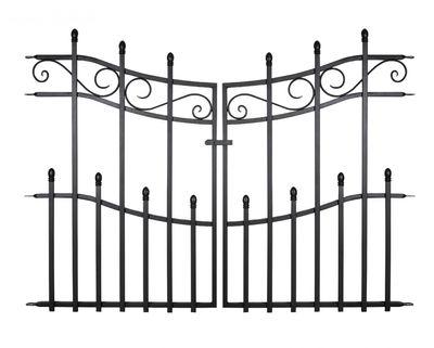 93cm MINI Kensington Finial Gate, Black. H76 x W93cm
