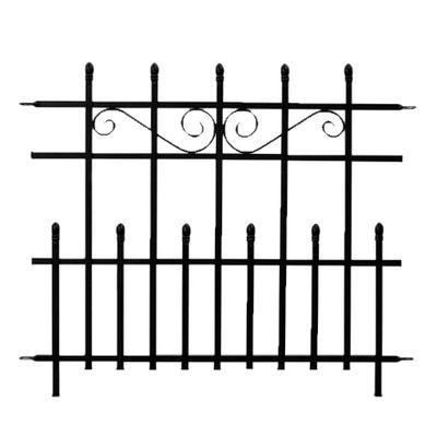 93cm MINI Kensington Finial Fence, Black. H76 x W93cm
