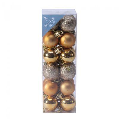 3cm Gold Baubles