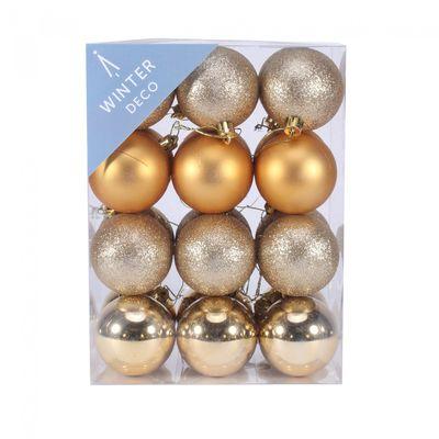 6cm Gold Baubles