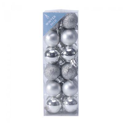 3cm Silver Baubles