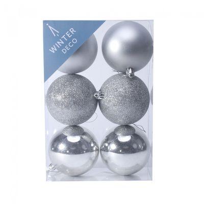 8cm Silver bauble