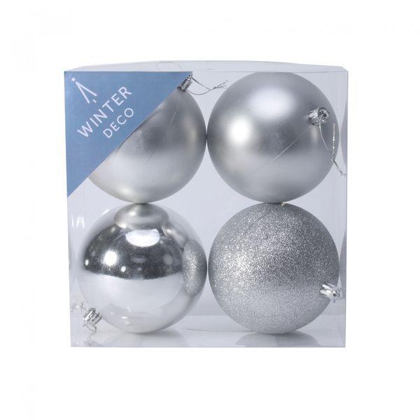 10cm Silver Bauble