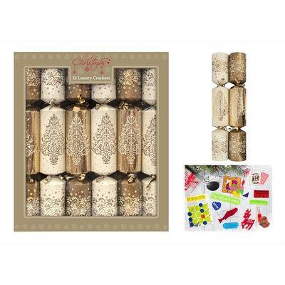 12 Luxury Gold Tree Crackers (14inch)