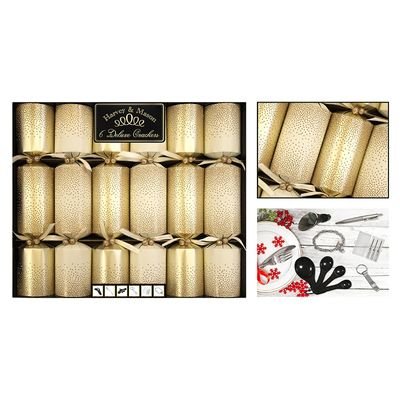 6 Deluxe Gold Scatter Crackers (13.5inch)