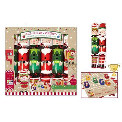 6 Santa Racing Workshop Crackers