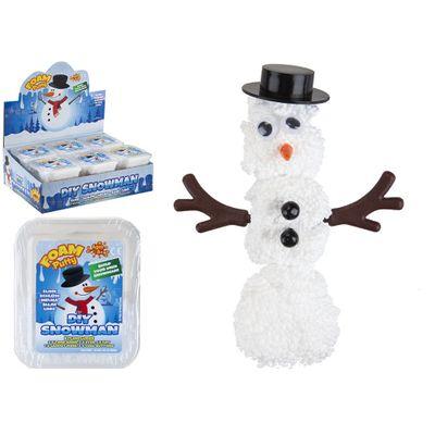 Diy Snowman Foam Putty W/Acc   In Plastic Carry Box.Disp Box.