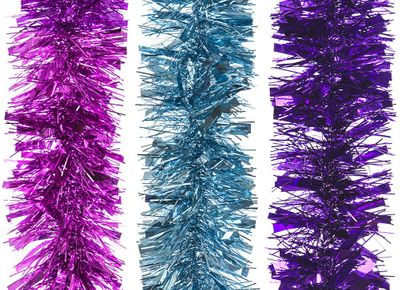 2M 6Ply Thick And Thin 11Cm    Tinsel 3Asstd Bright Colours