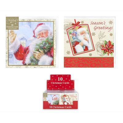 10 Santa Cards (Assorted Designs)