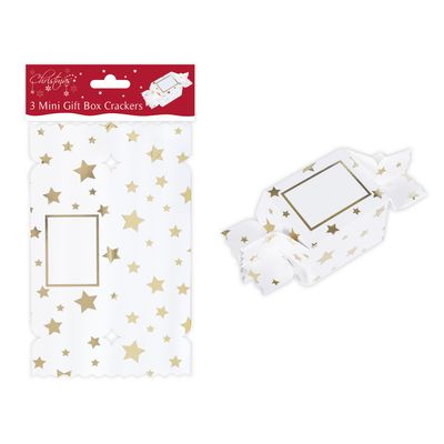 3 Gold Treat Cracker Boxes