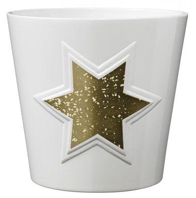 Magic Gold Star Ceramic Pot (14cm)