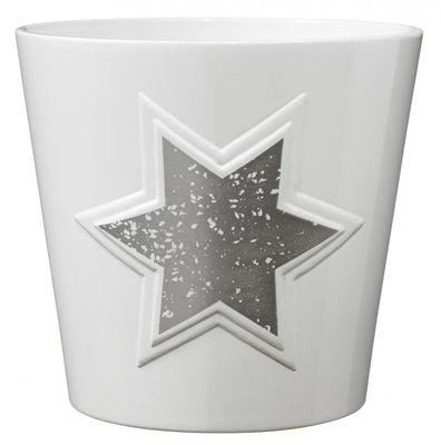 Magic Silver Star Ceramic Pot (14cm)