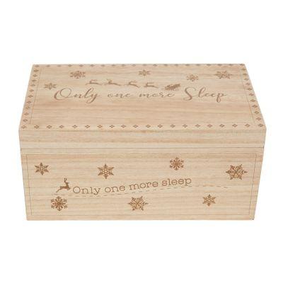 Light Wood Personalisable Christmas Eve Box