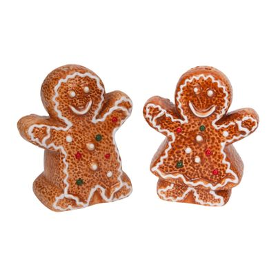 Gingerbread Couple Salt and Pepper Shakers