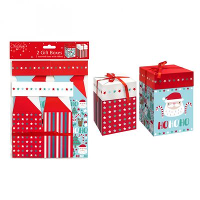 Cute Christmas Gift Boxes (Pack of 2)