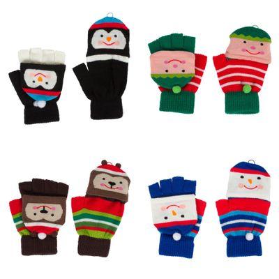 Assorted Christmas Fingerless Gloves
