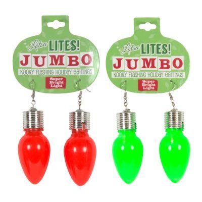 Assorted Christmas Jumbo Light Earrings
