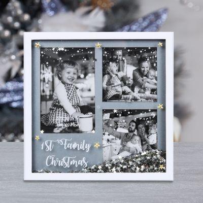 1st Family Christmas Photo Frame
