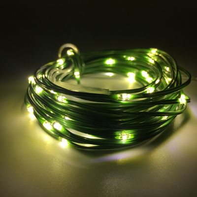 Elements Outdoor Remote Green Wire lights 100 bulbs warm white