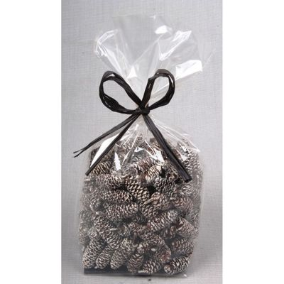 Birch Pines Cones with White Tip Bag (100g)