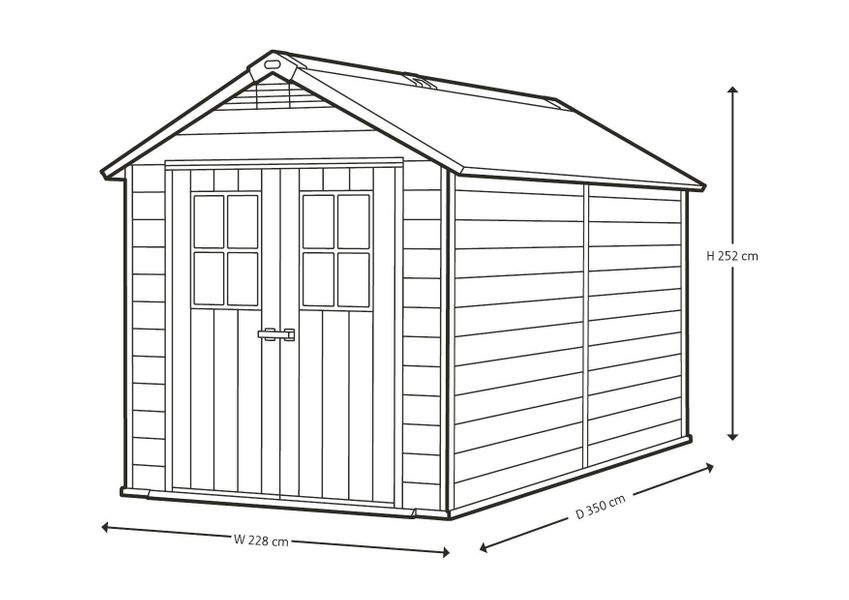 Keter Newton Shed 7511