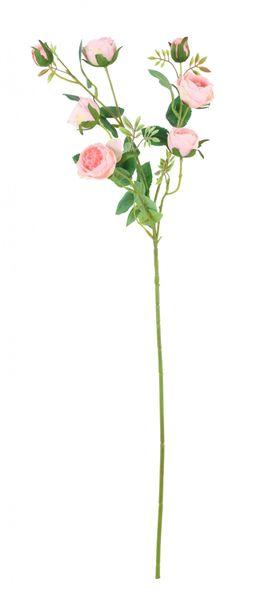 Garden Peony Rose Spray Light Pink