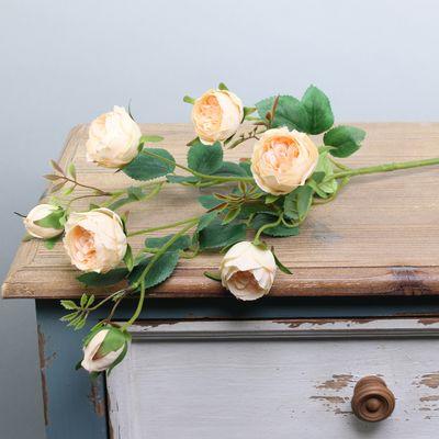 Garden Peony Rose Spray Peach