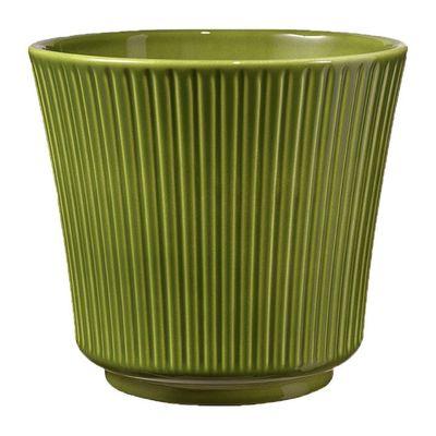 Antique Green Delphi Ceramic Pot (12cm)