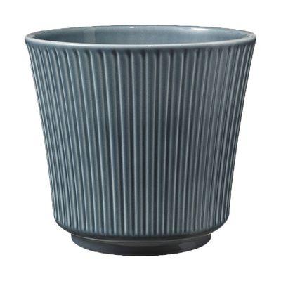 Blue Grey Delphi Ceramic Pot (12cm)