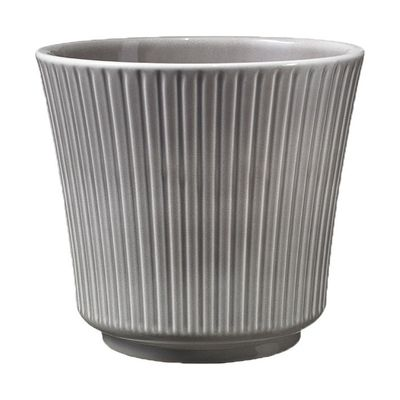 Warm Grey Delphi Ceramic Pot (12cm)