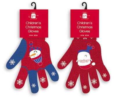 Outfit Kids Xmas Gloves